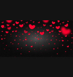 seamless hearts border on dark background vector image vector image