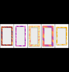 set colored trendy gradient frame vector image