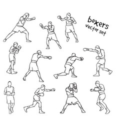 silhouettes boxers vector image