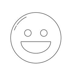 smiley face icon vector image