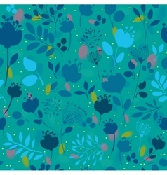 Spring Night Flowers Floral Seamless Pattern vector image