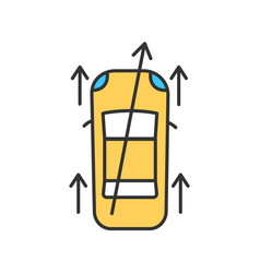 Steering alignment rgb color icon vector