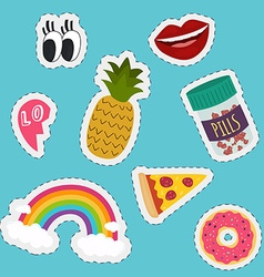 Stickers and handwritten notes collection Fashion vector image