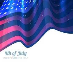 stylish 4th of july background vector image