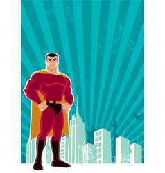 Superhero city vector