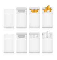 Template pack of cigarettes with yellow and white vector