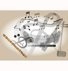 Thailand flute vector image