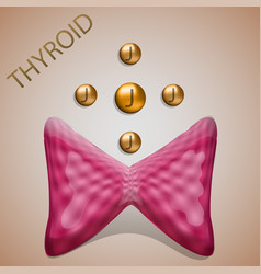thyroid iodine vector image
