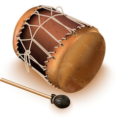 Traditional bungas drums vector image vector image