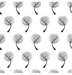 Tree hand drawn patterns uneven-02 vector
