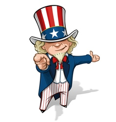 Uncle Sam I Want You Presenting vector