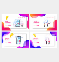 user experience review rating landing page vector image