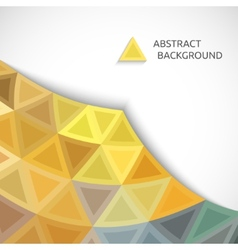 abstract background of colored triangles vector image vector image