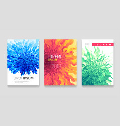 Abstract flower covers set vector
