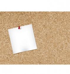 cork bulletin board vector image