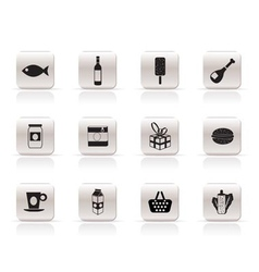 food and drink icons 1 vector image vector image