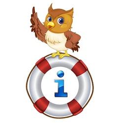 Owl Kiosk Sign vector image