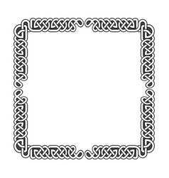 celtic knots medieval frame in black and vector image