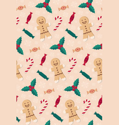 christmas candies seamless pattern vector image vector image