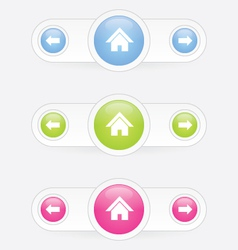 home button with arrow vector image