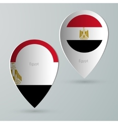 paper of map marker for maps egypt vector image vector image