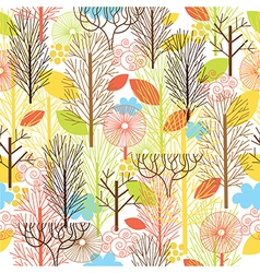 autumn forest seamles pattern vector image vector image