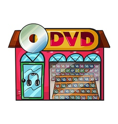DVD store vector image vector image