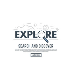 exploration banner vector image