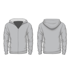 Hoodies shirt template vector image vector image