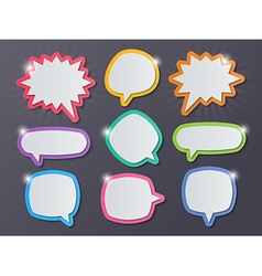 paper starburst speech bubbles vector image vector image