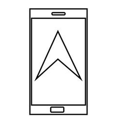 phone navigation icon vector image
