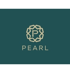 Premium letter p logo icon design luxury vector