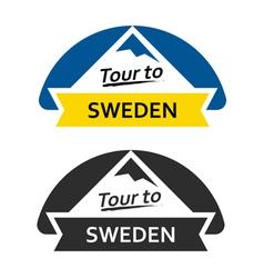Tour to Sweden Set of Badges vector image