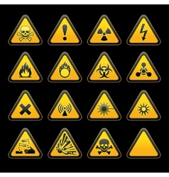 triangular warning signs vector image