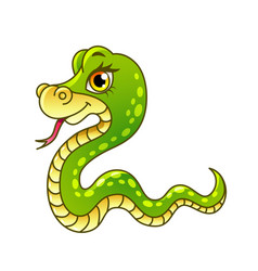 cartoon snake isolated vector image vector image