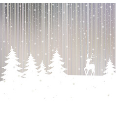 christmas background winter landscape vector image