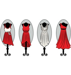 Dresses on a mannequin vector image vector image