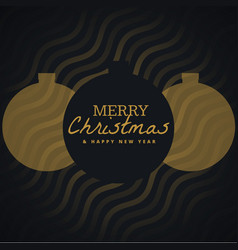 elegant seasonal merry christmas background with vector image vector image