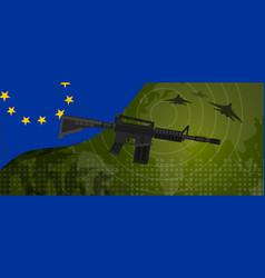 europe union eu military power army defense vector image vector image