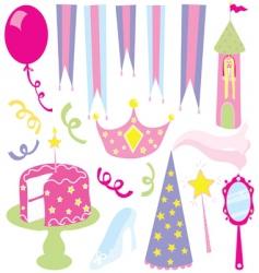 girls princess party vector image