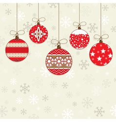 red decorations vector image vector image
