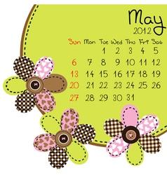 2012 may calendar vector