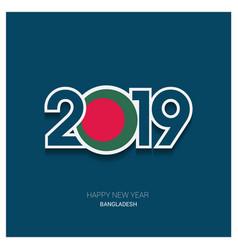 2019 bangladesh typography happy new year vector