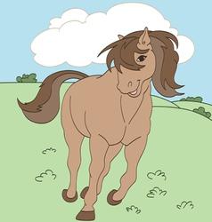 Adorable Horse vector image