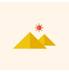 Attraction Travel Flat Icon vector