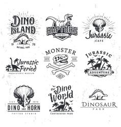 Big dinosaur logo set triceratops t-shirt vector
