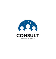 Business consulting logo design template vector