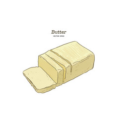 Butter hand draw sketch vector