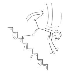 Cartoon man or businessman falling down vector