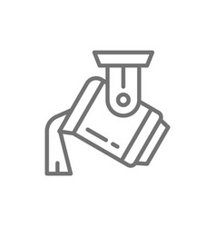 casting metal steel production metallurgy line vector image